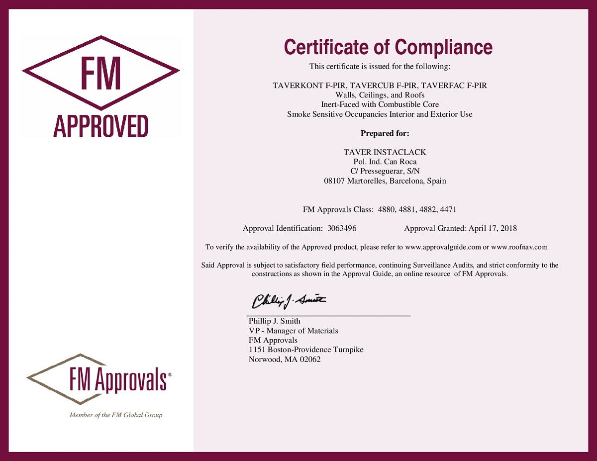 CERTIFICADO FM APPROVED® 1