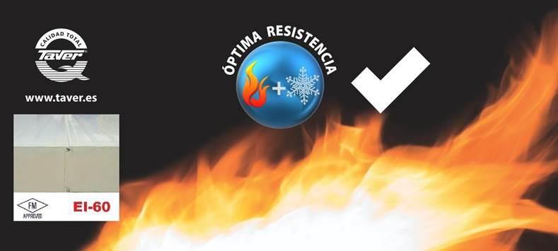 Panel Taverkont F-PIR con certificación FM y resistencia al fuego EI-60 1