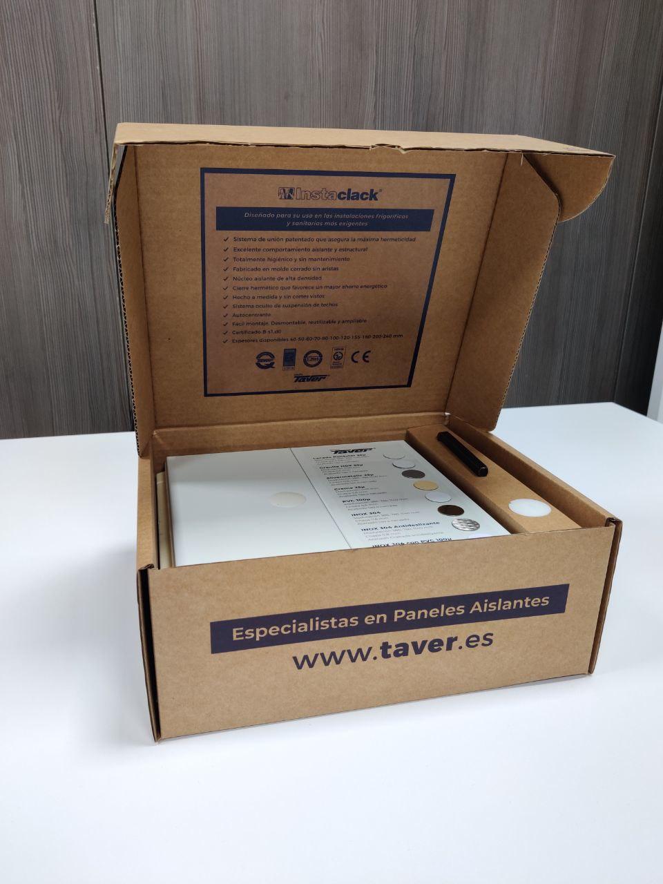 caja muestras panel aislante