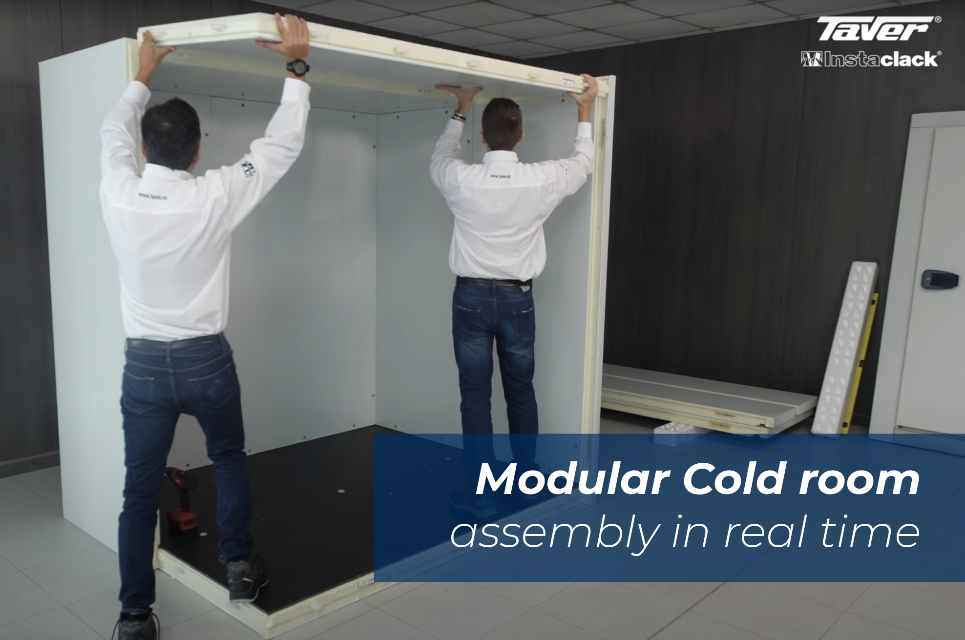 SEVEN MINUTES IS ENOUGH TO ASSEMBLE THE STRUCTURE OF A MODULAR REFRIGERATOR CHAMBER 10